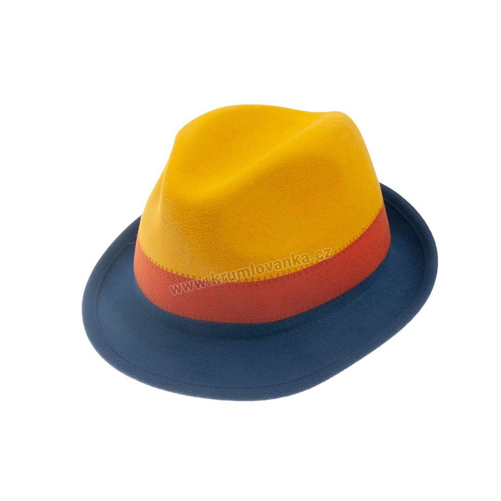 Plstěný klobouk TONAK 11510/13 žlutý Q 0116