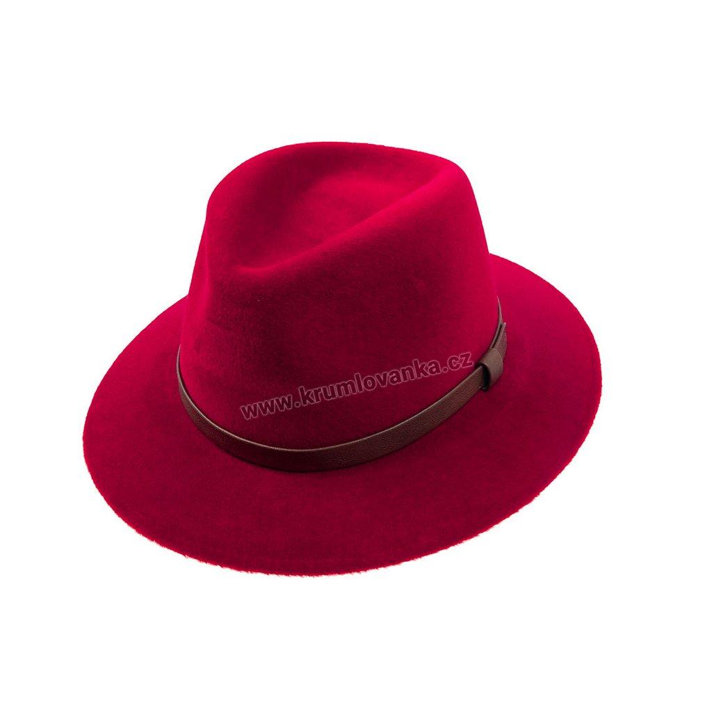 Luxusní plstěný klobouk TONAK 12089/15 červený Q 1114