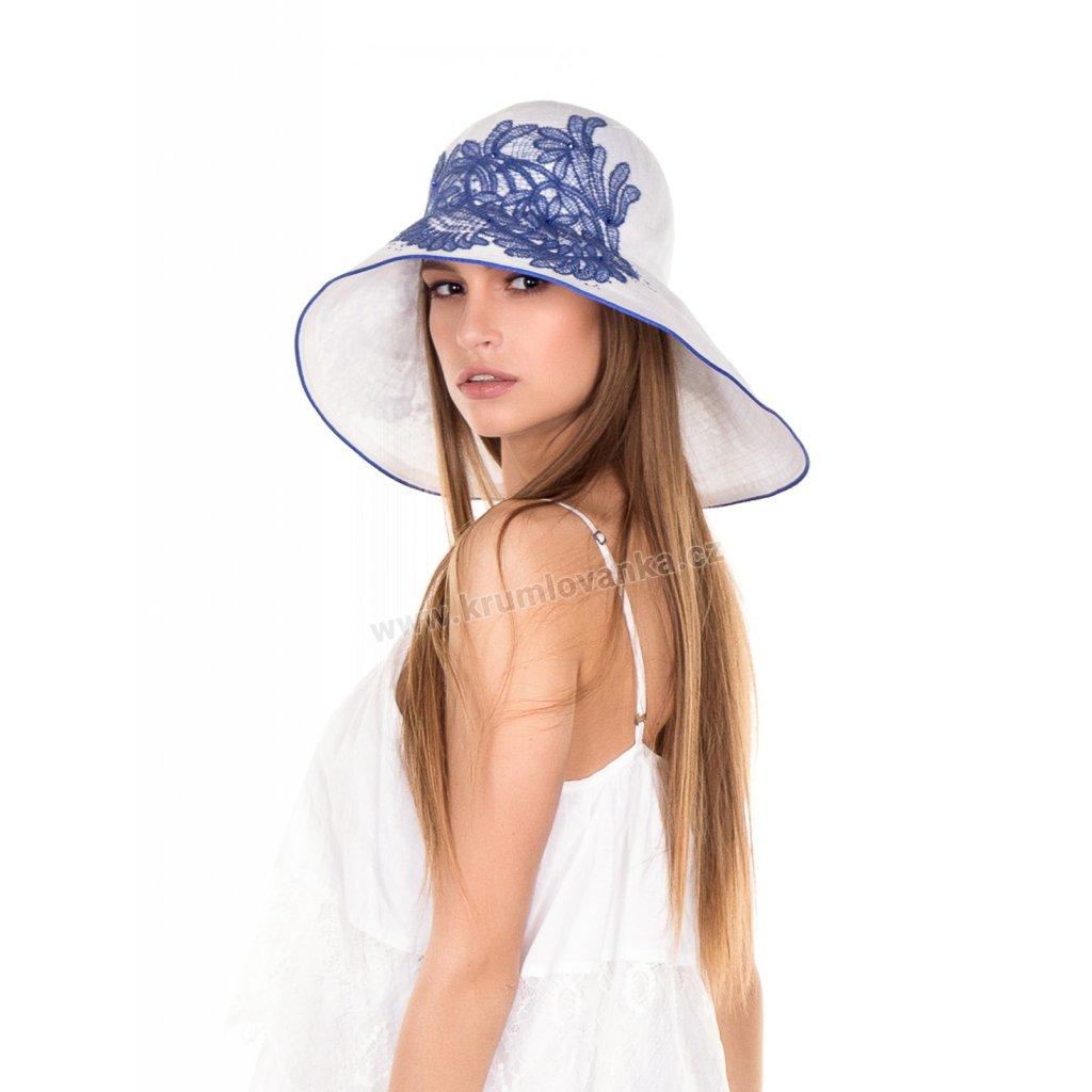 Dámský letní klobouk Krumlovanka 435299 bílý