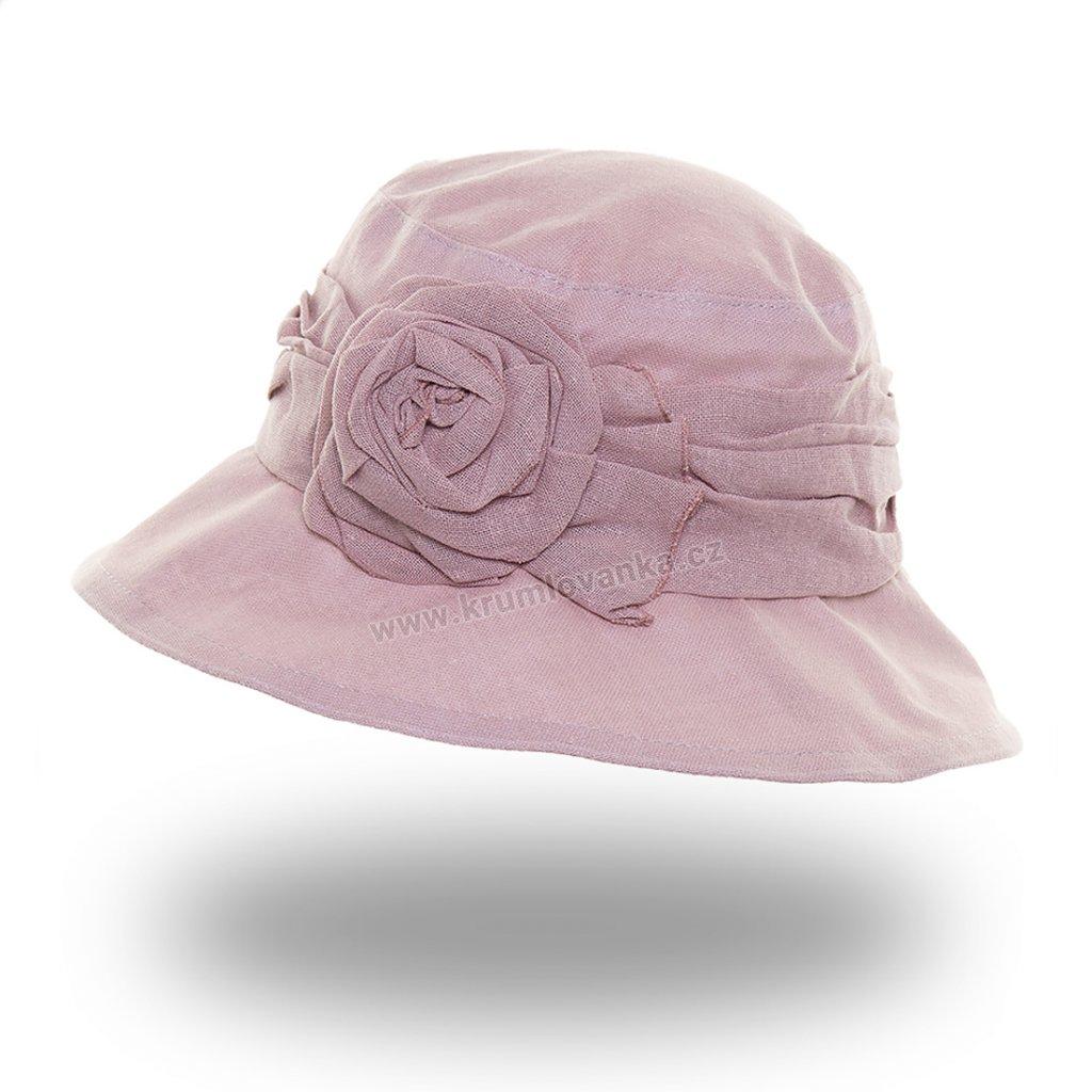 Dámský letní klobouk Krumlovanka 389594 starorůžový
