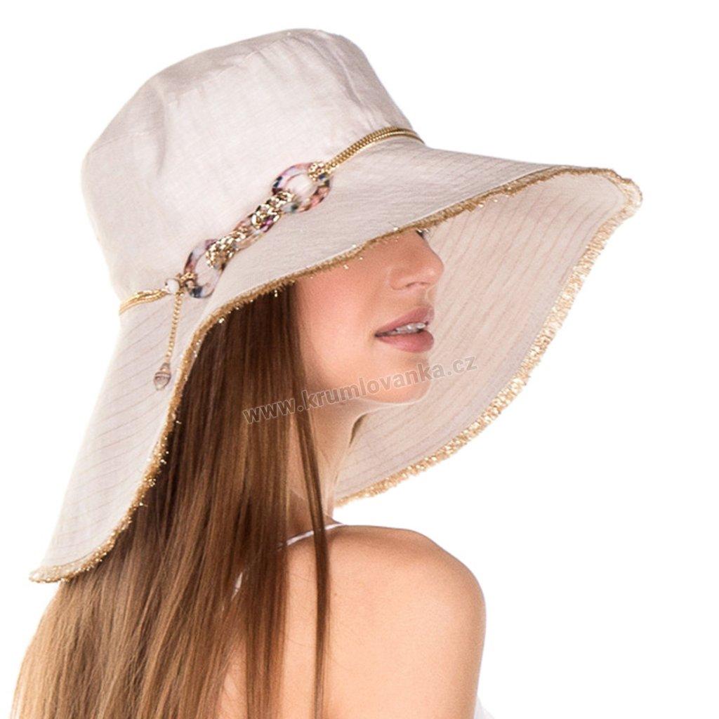 Letní dámský klobouk Krumlovanka 434995 béžový