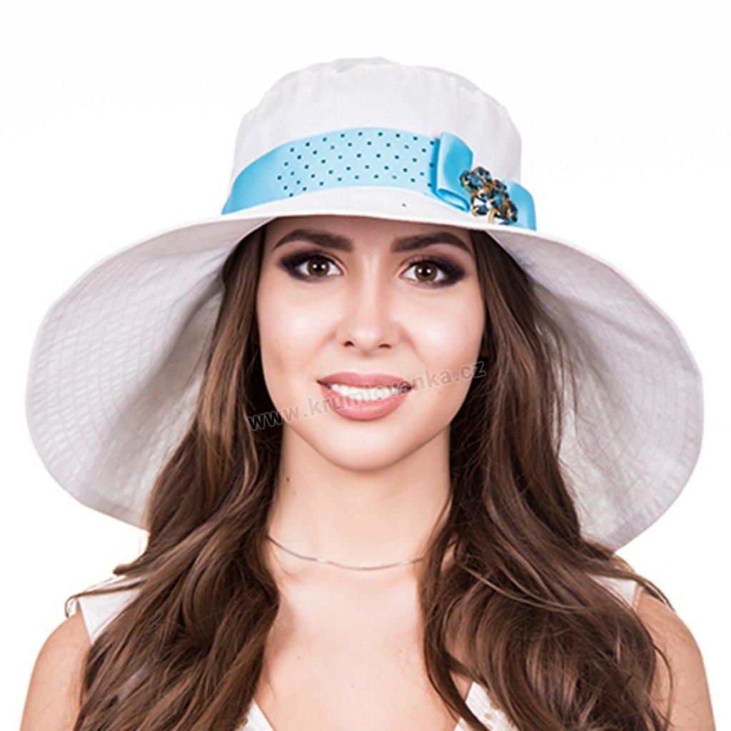 Dámský letní klobouk Krumlovanka 437065 bílý