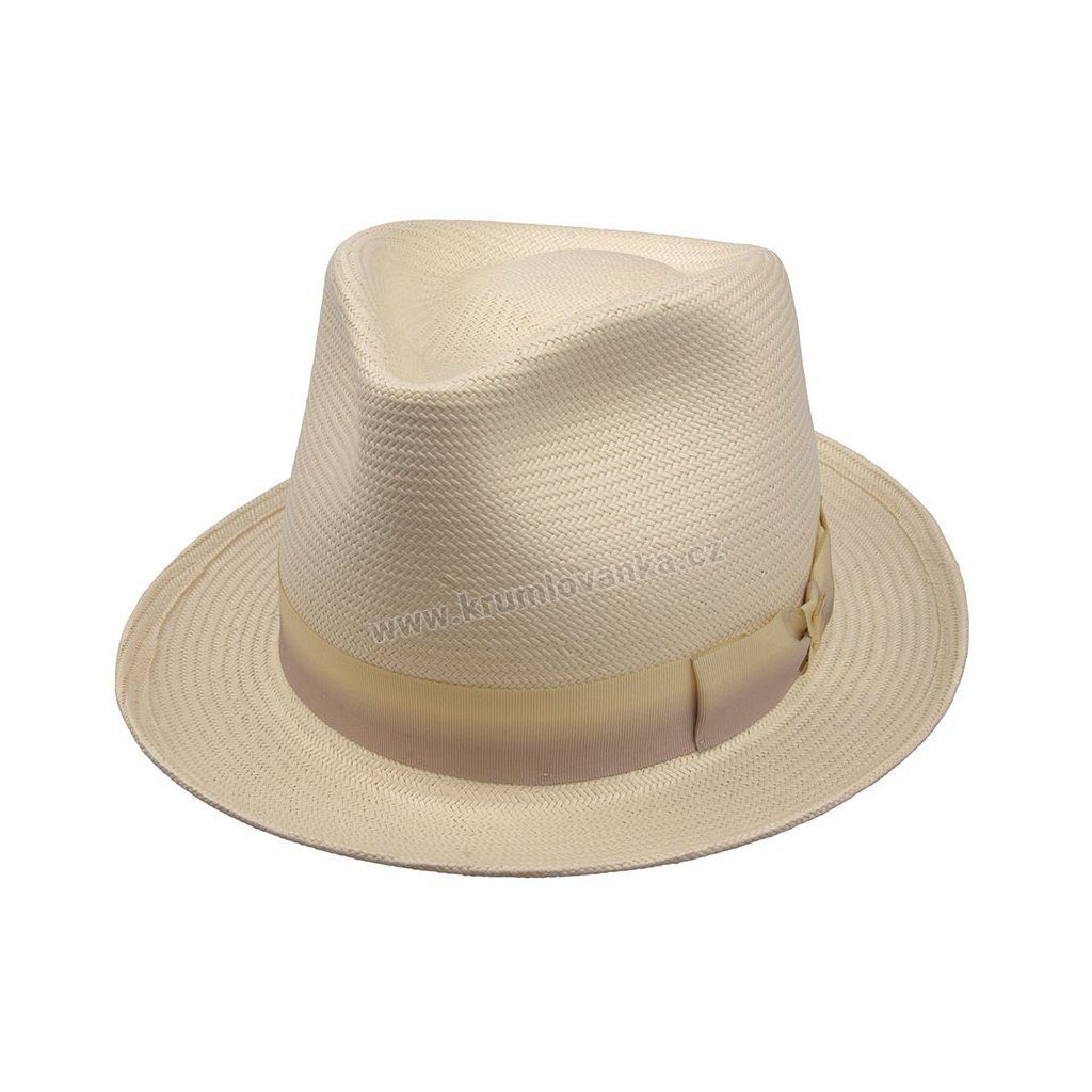 Slaměný klobouk TONAK  Fedora Base Nebbia 36068 natural