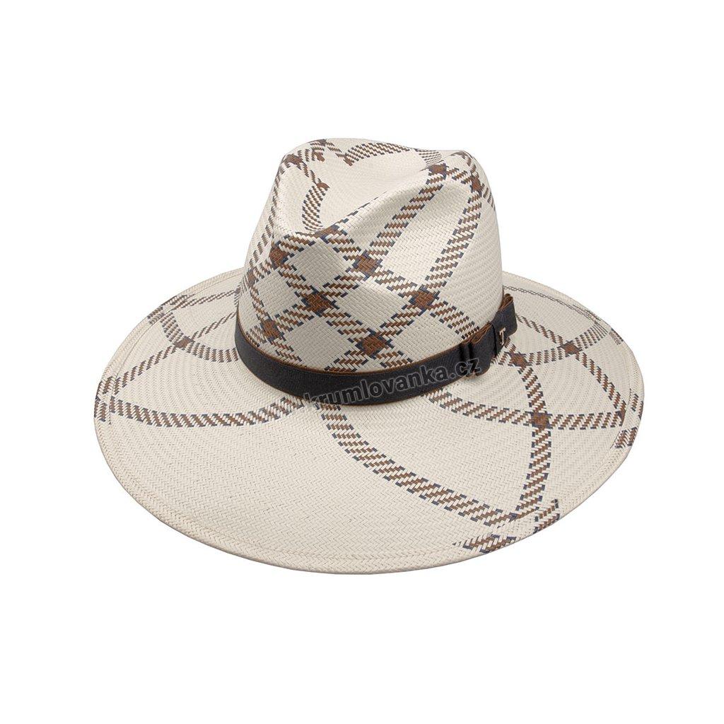Letní klobouk TONAK Fedora Claudie 35024 bílý