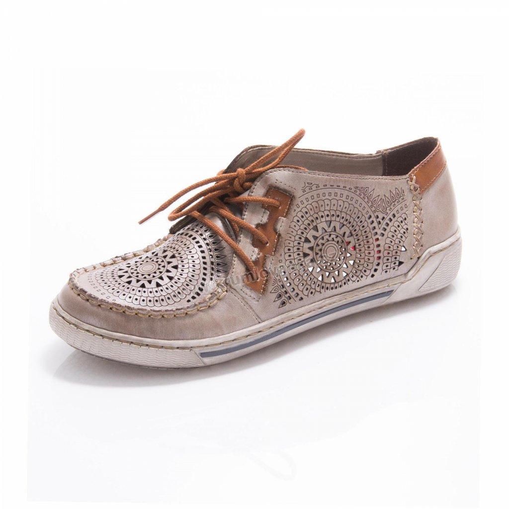 Dámská obuv RIEKER 42443-62 béžové