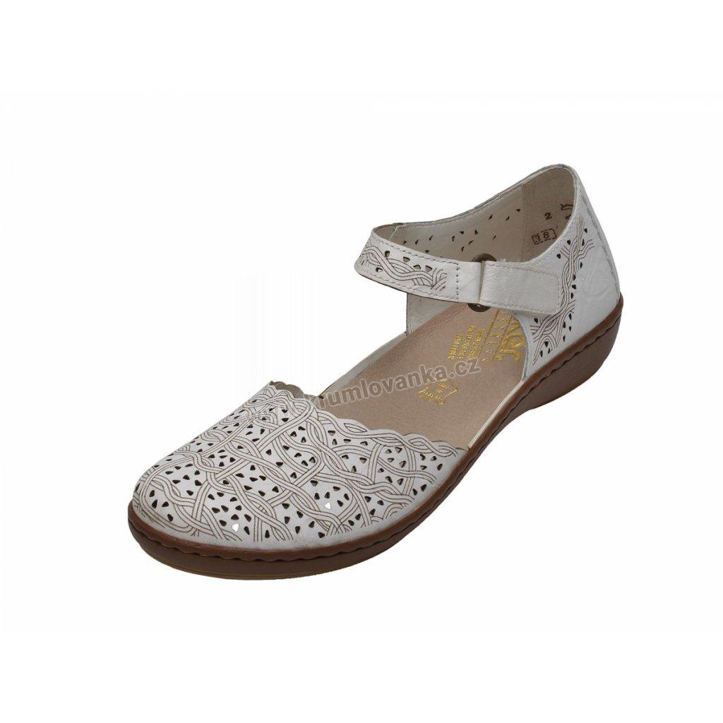 Dámské sandály RIEKER 45887/80 bílé