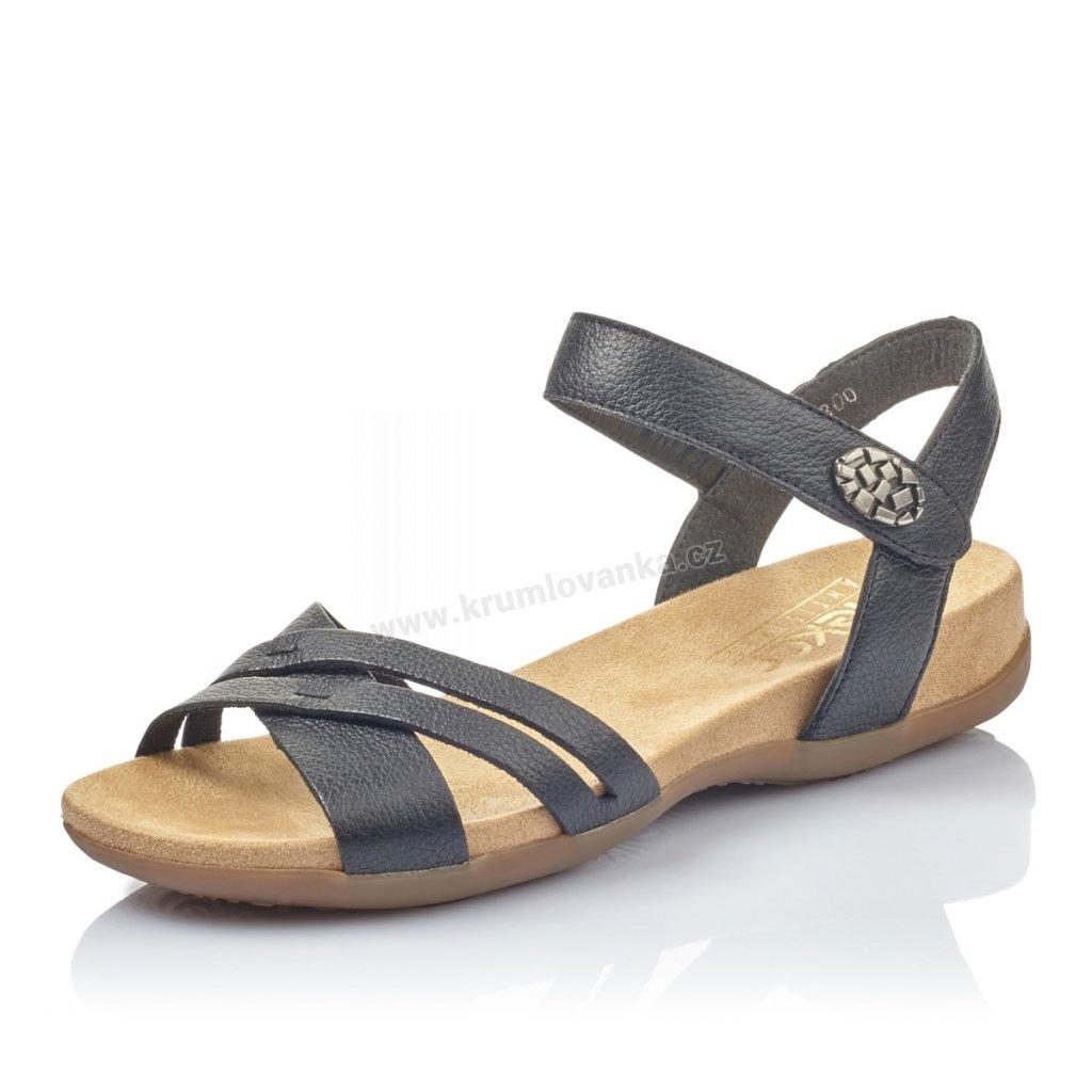 Dámské sandály RIEKER 60553-00 černé
