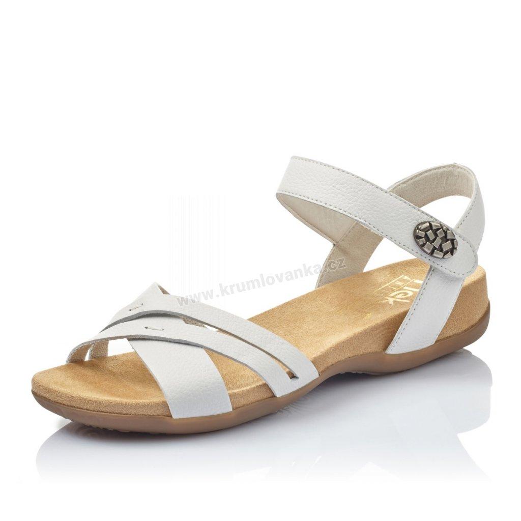Dámské sandály RIEKER 60553-80 bílé