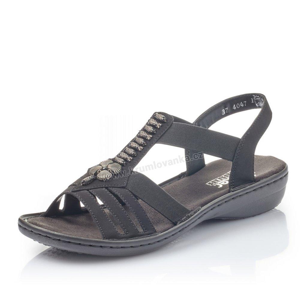 Dámské sandály RIEKER 60806-00 černé