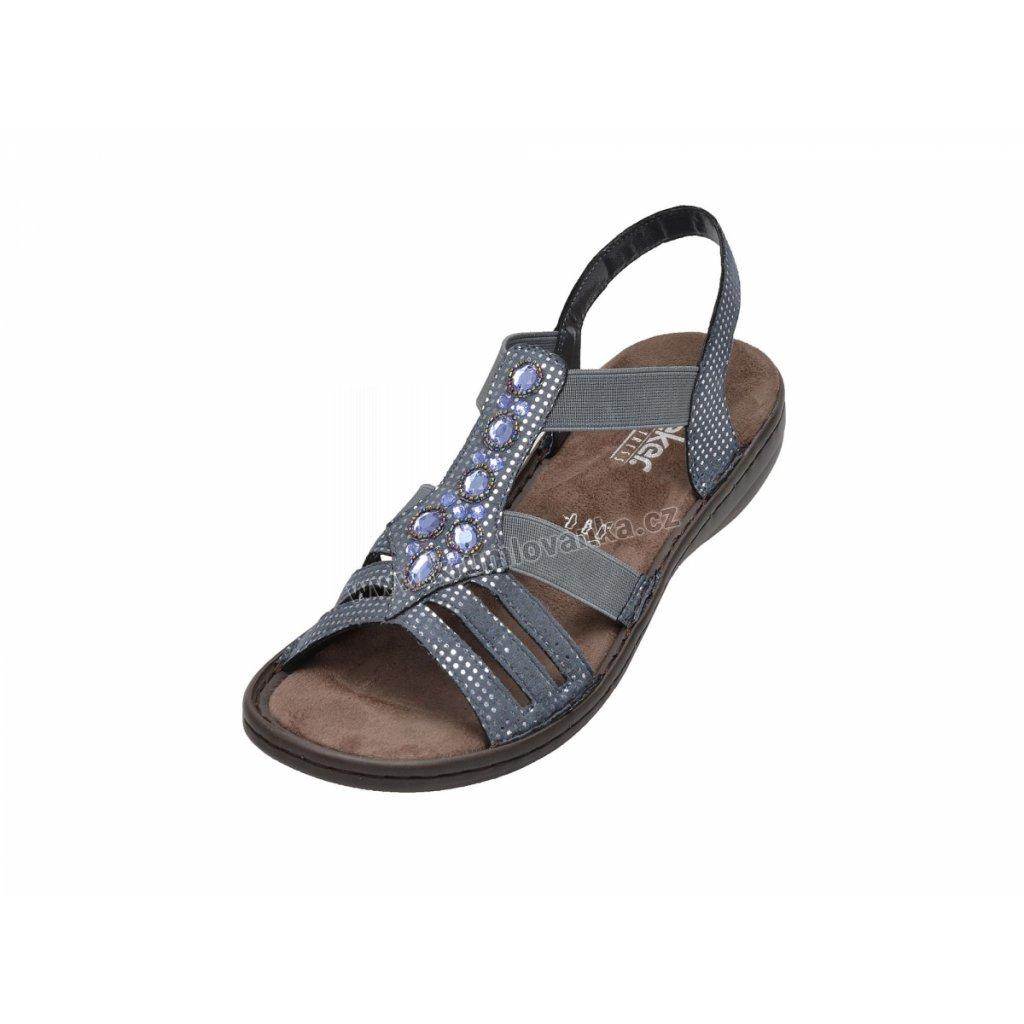 Dámské sandály RIEKER 60813-12 modré