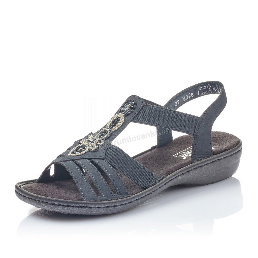 Dámské sandály RIEKER 60836-14 modré
