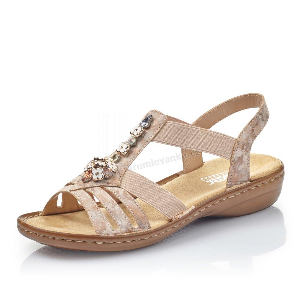 Dámské sandály RIEKER 60855-31 růžové