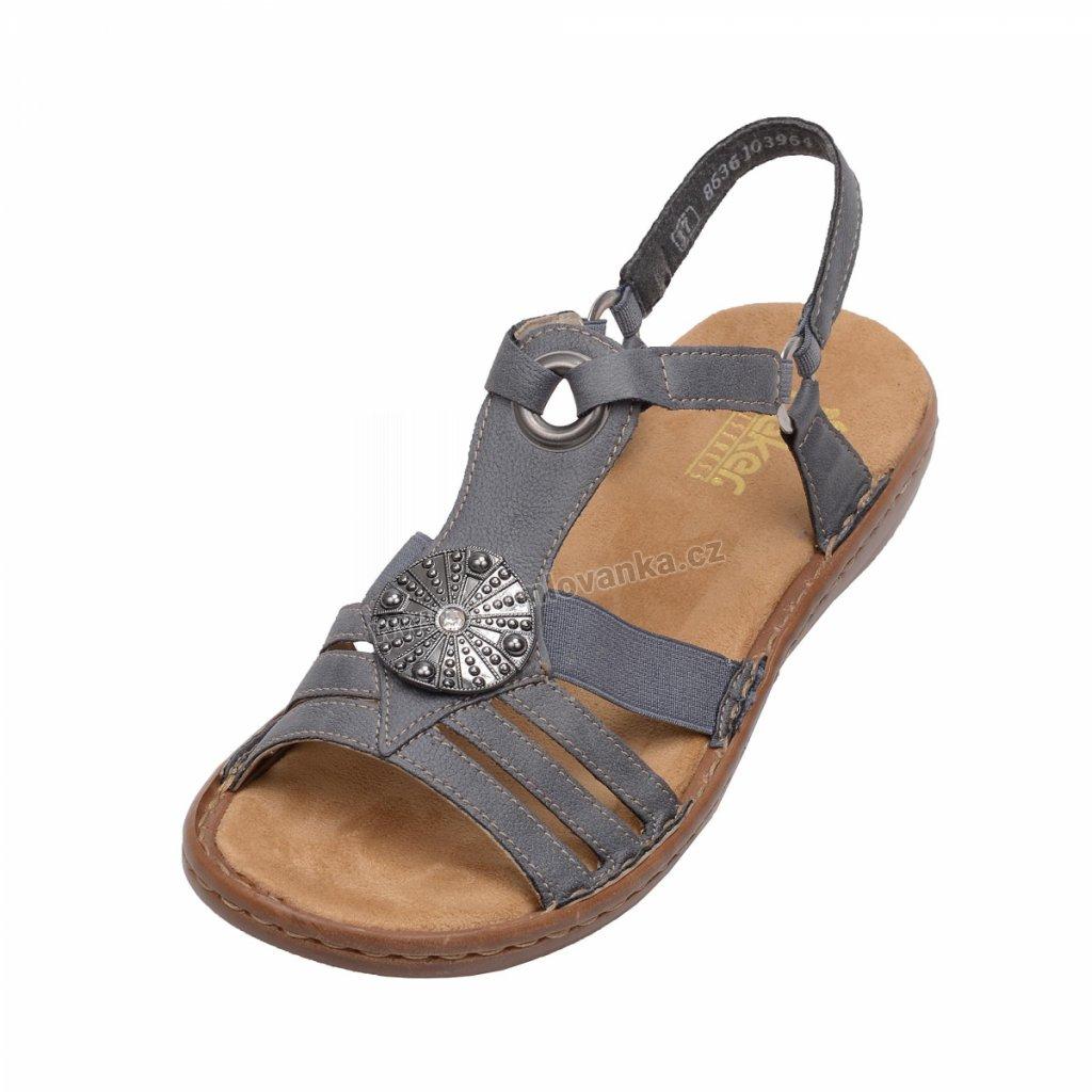 Dámské sandály RIEKER 60869/14 modré