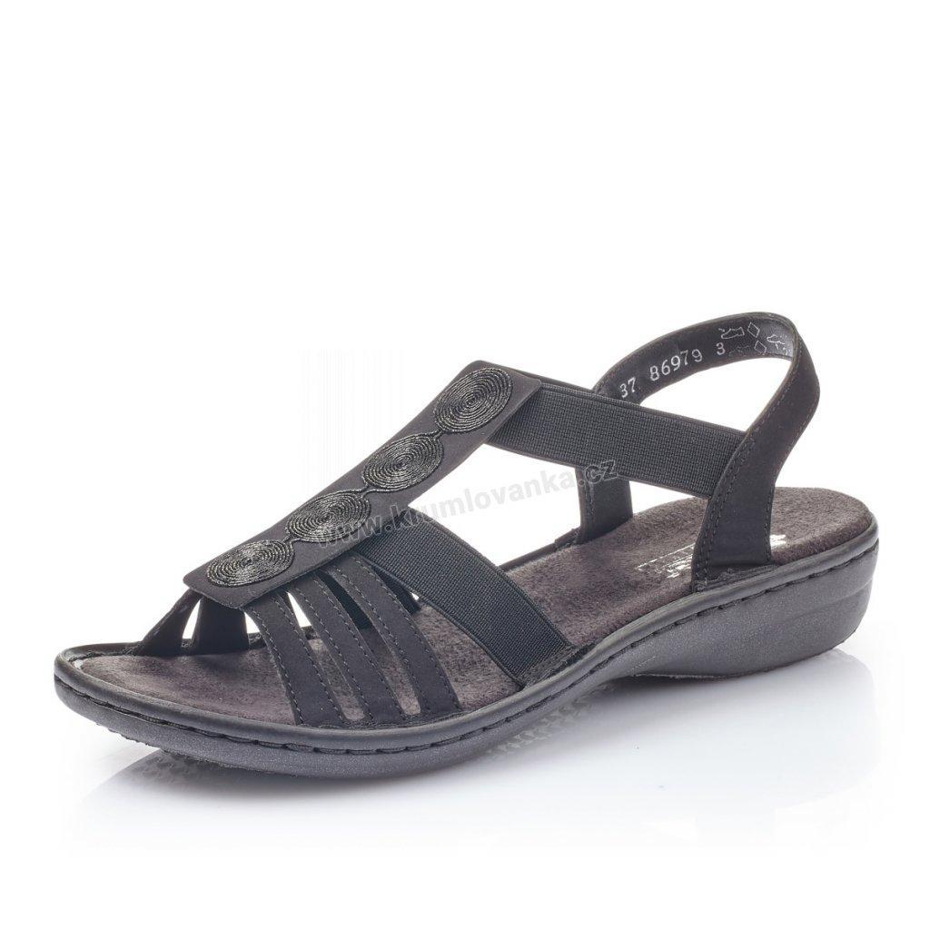 Dámské sandály RIEKER 60870-00 černé