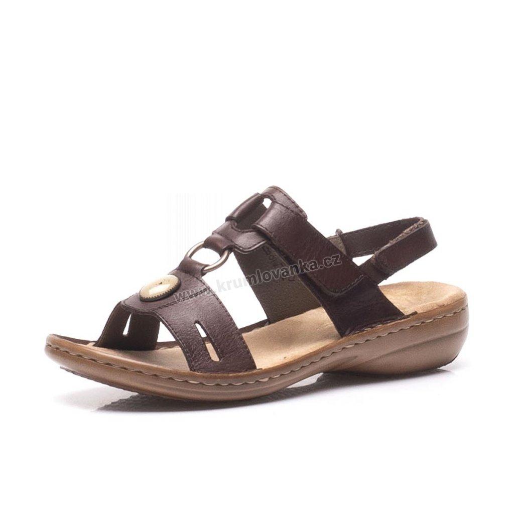 Dámské sandály RIEKER 60874-26 hnědé
