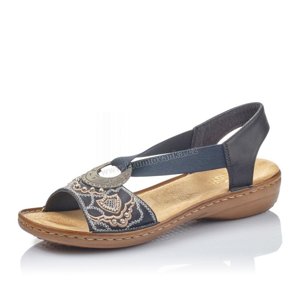 Dámské sandály RIEKER 608b9-12 modré