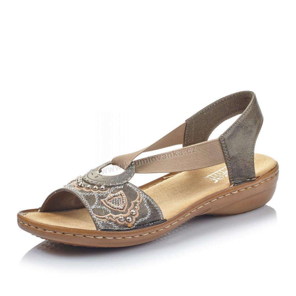 Dámské sandály RIEKER 608b9-12 Šedé