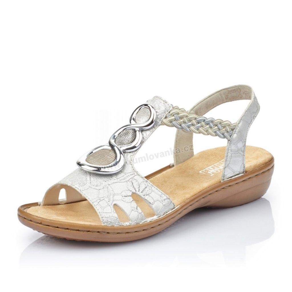 Dámské sandály RIEKER 608T8-81 bílé
