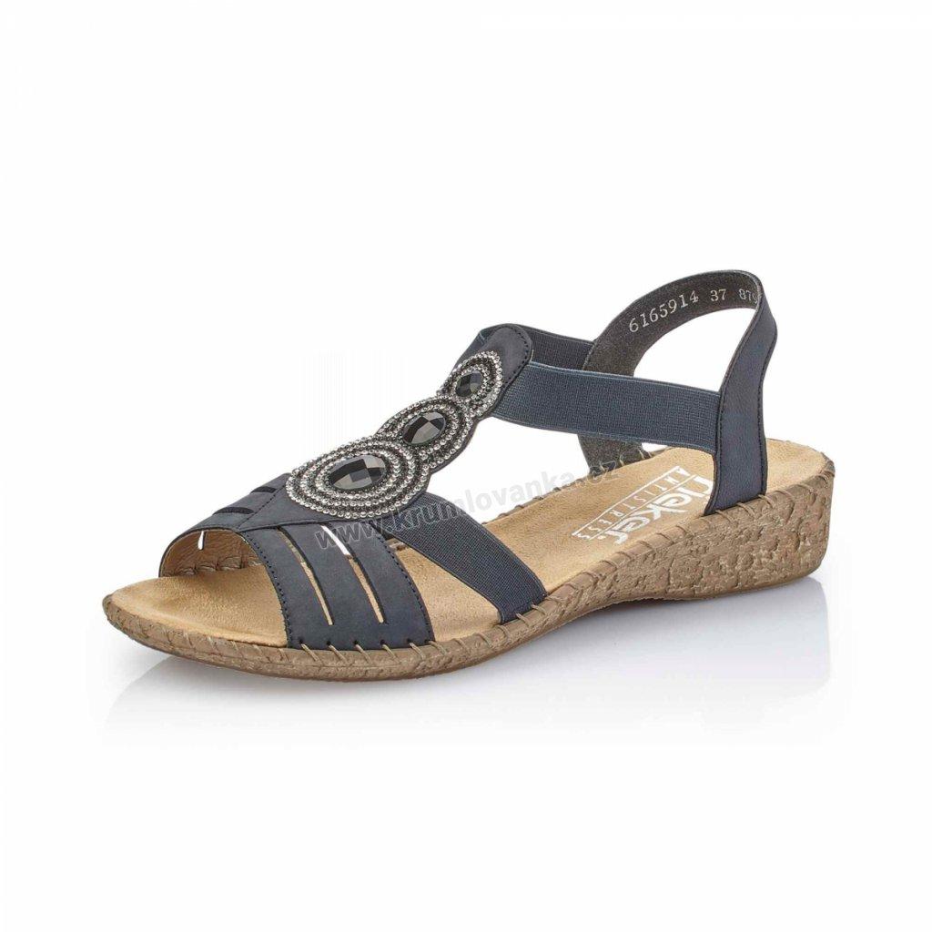 Dámská obuv RIEKER 61659-1 modré