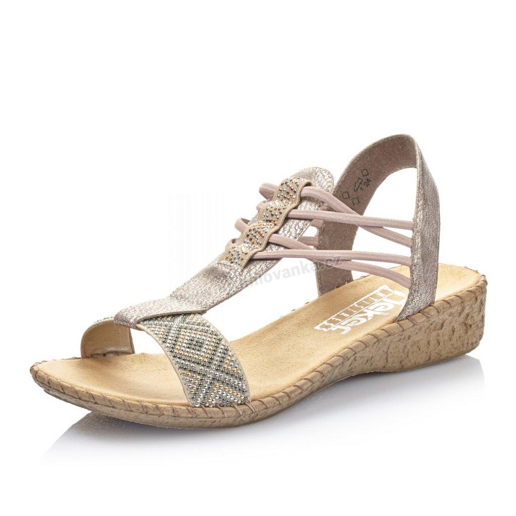 Dámské sandály RIEKER 61662-60 béžové