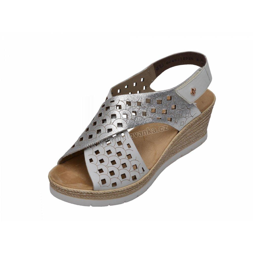 Dámska sandálky RIEKER 61946-80 stříbrné