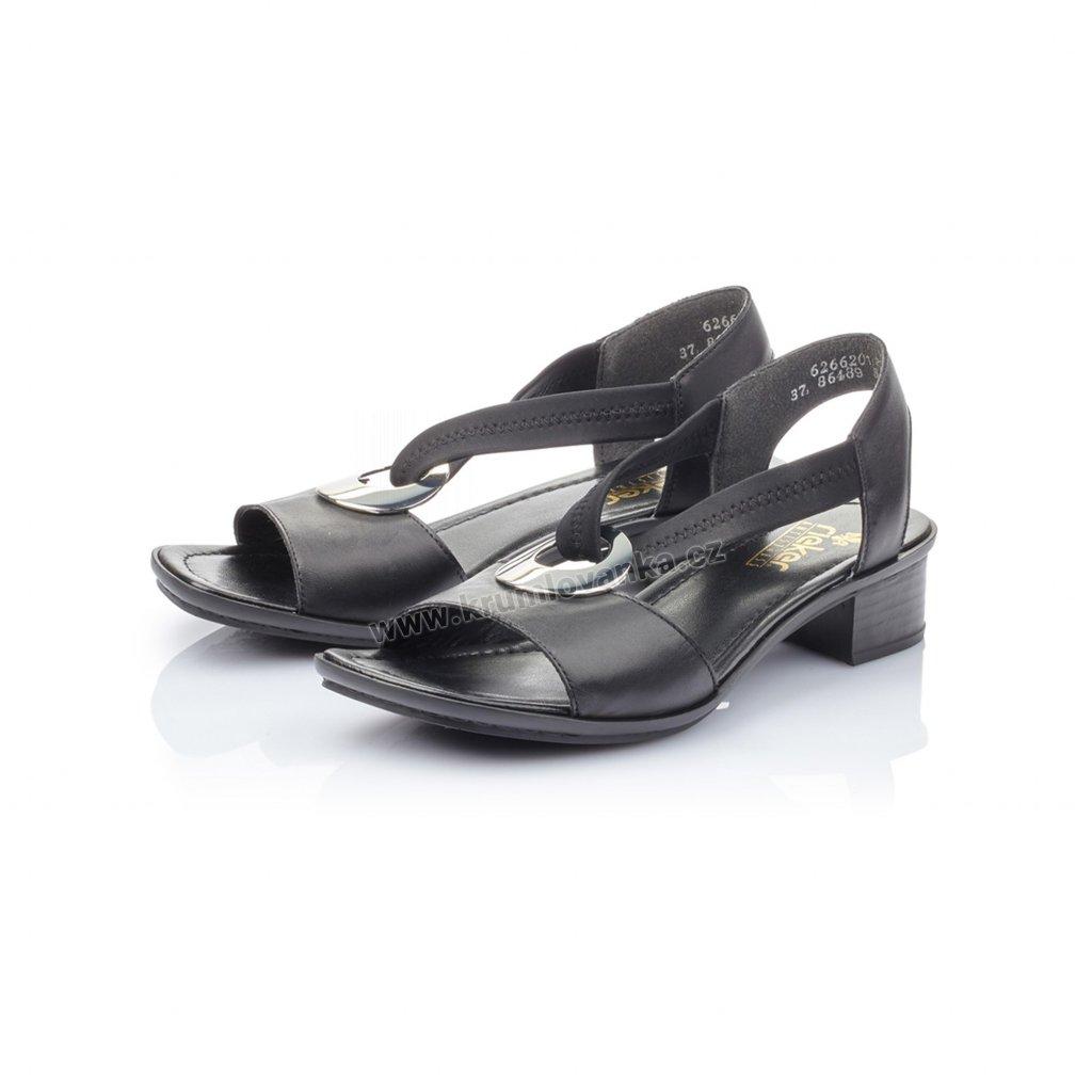 Dámské sandály RIEKER 62662-01 černé