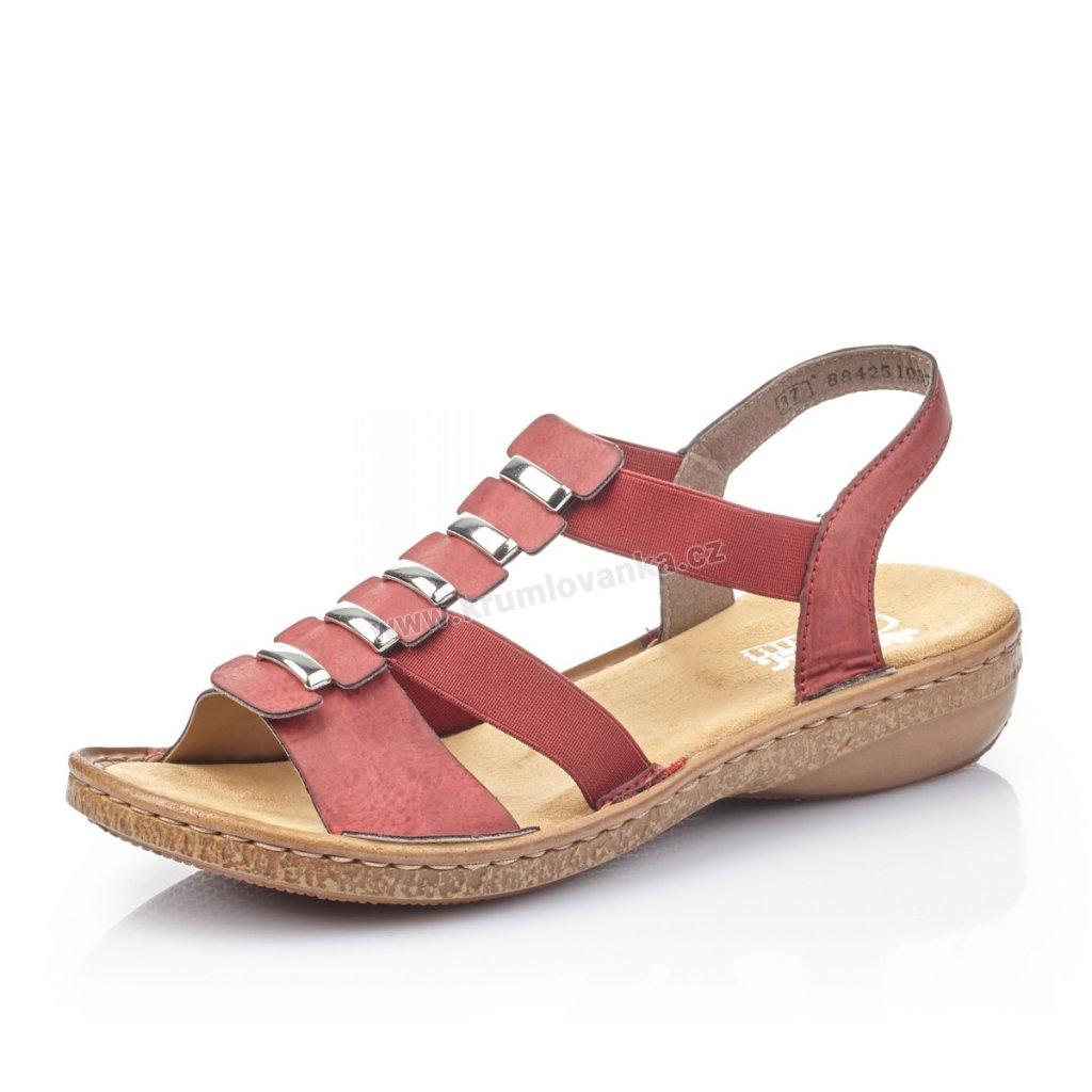 Dámské sandály RIEKER 62850-35 červené