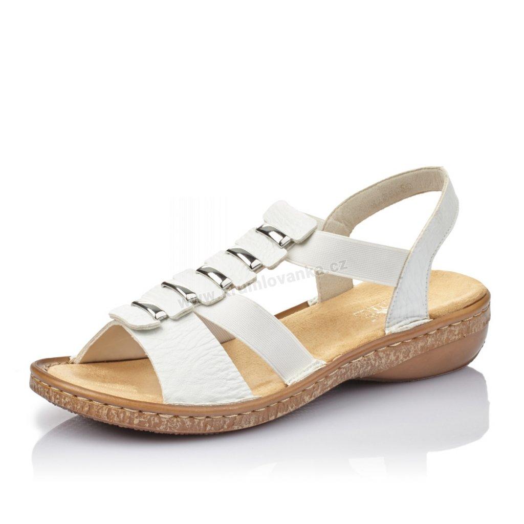 Dámské sandály RIEKER 62850-80 bílé