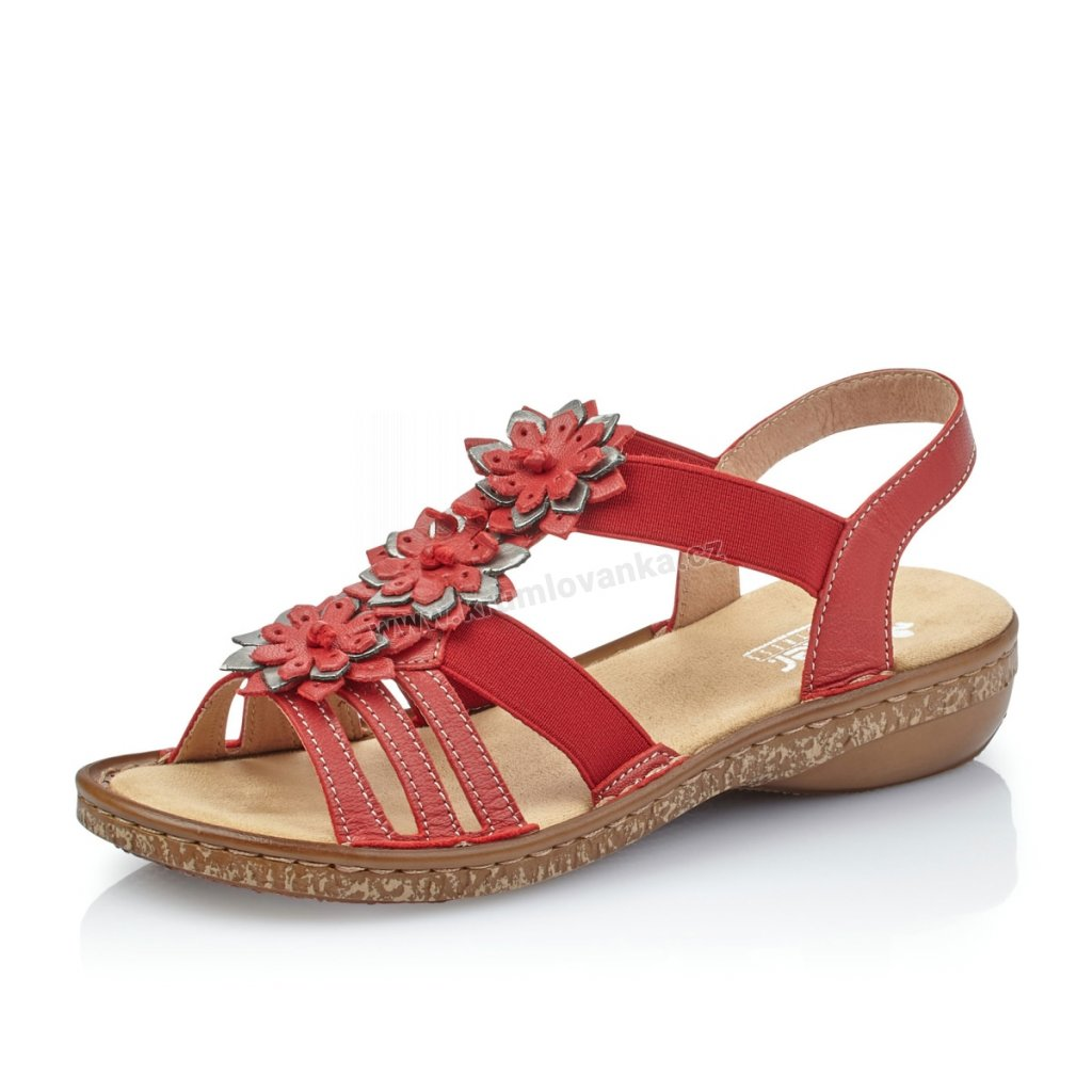 Dámská obuv RIEKER 62858-33 červené