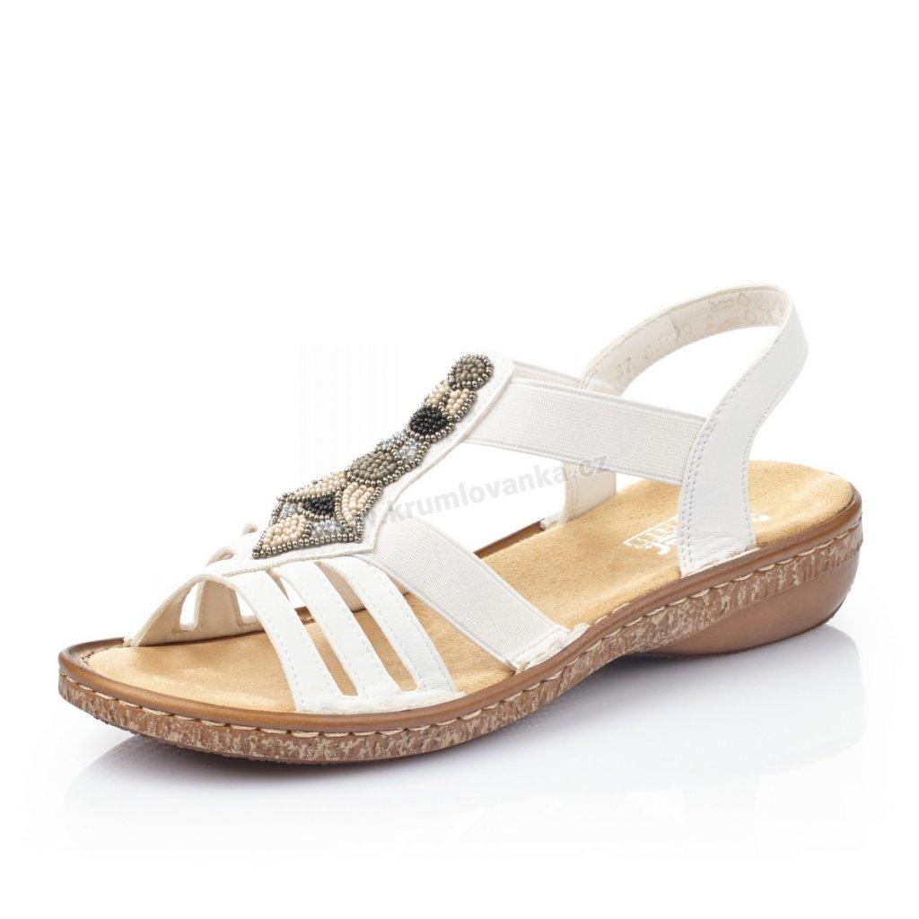 Dámské sandály RIEKER 628g5-80 bílé