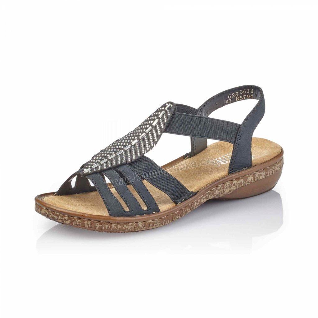Dámské sandály RIEKER 628g6-14 modré