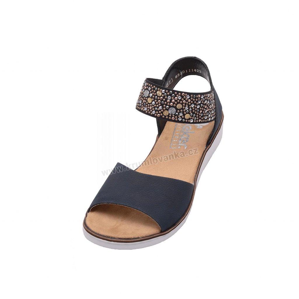 Dámské sandále RIEKER 63678-14 modré