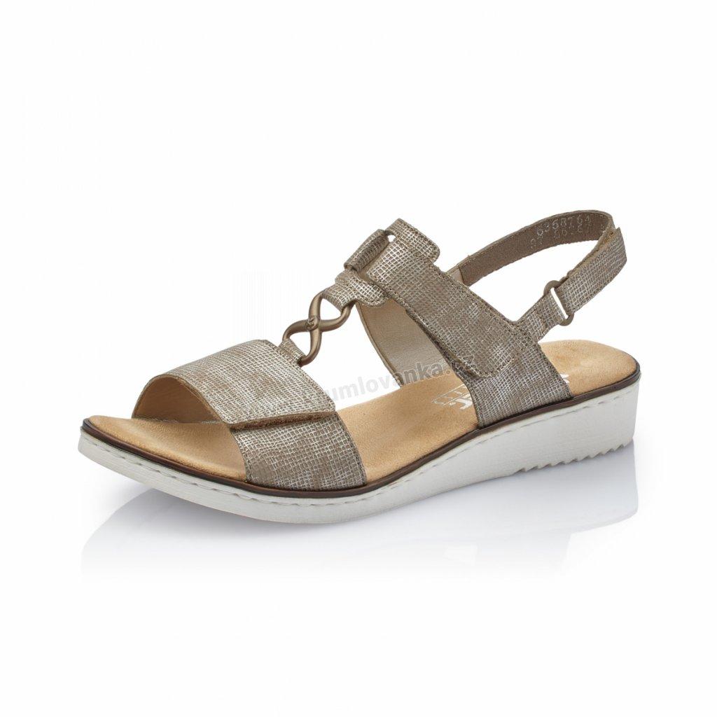 Dámské sandály RIEKER 63687-64 béžové
