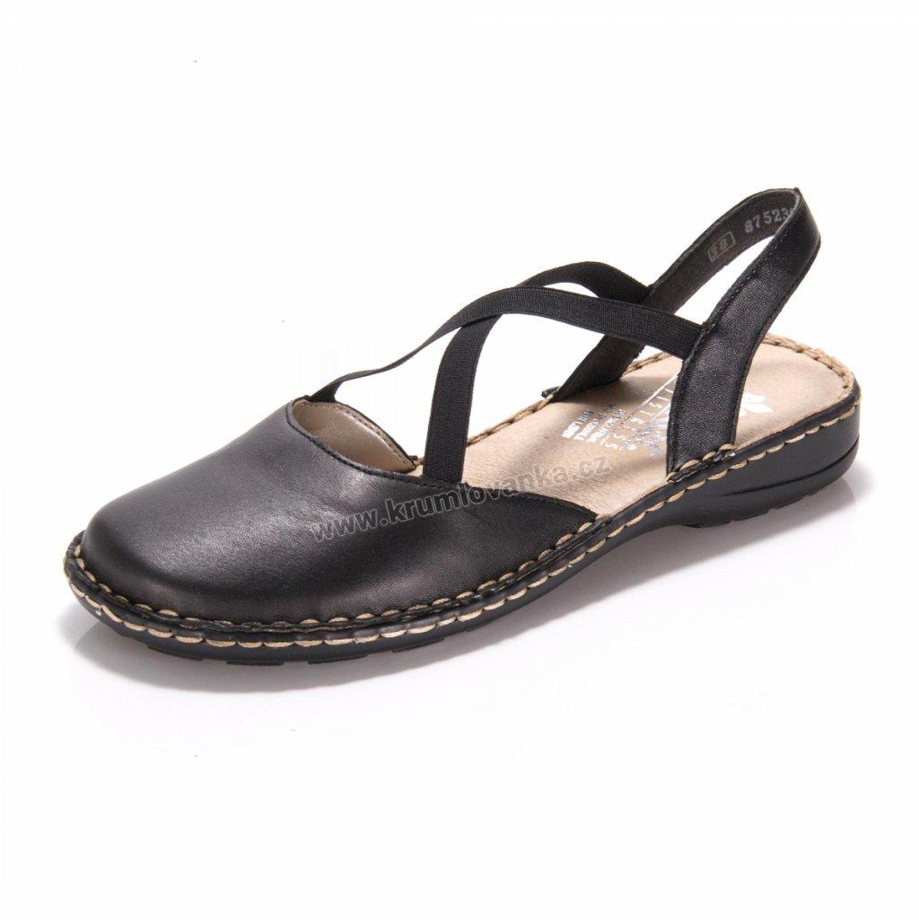 Dámské sandály RIEKER 64871-01 černá
