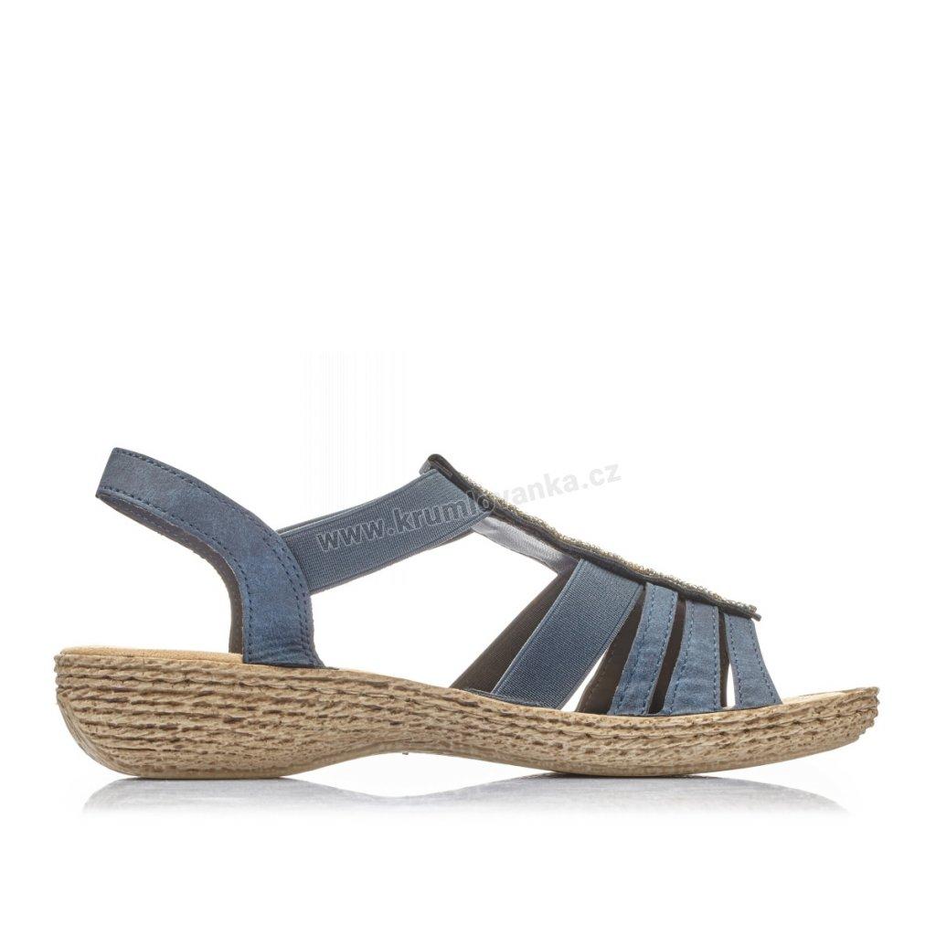 Dámské sandály RIEKER 658c0-14 modré