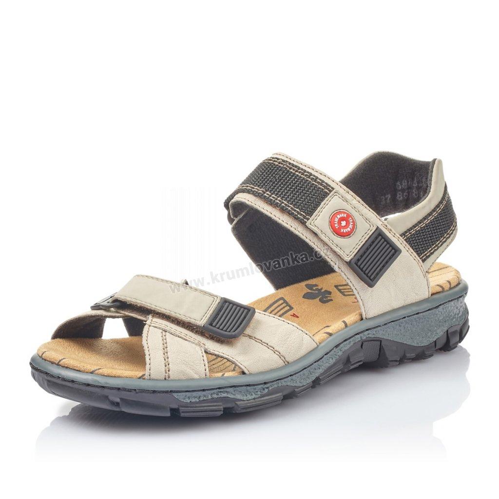 Dámské sandály RIEKER 68851-60 béžové