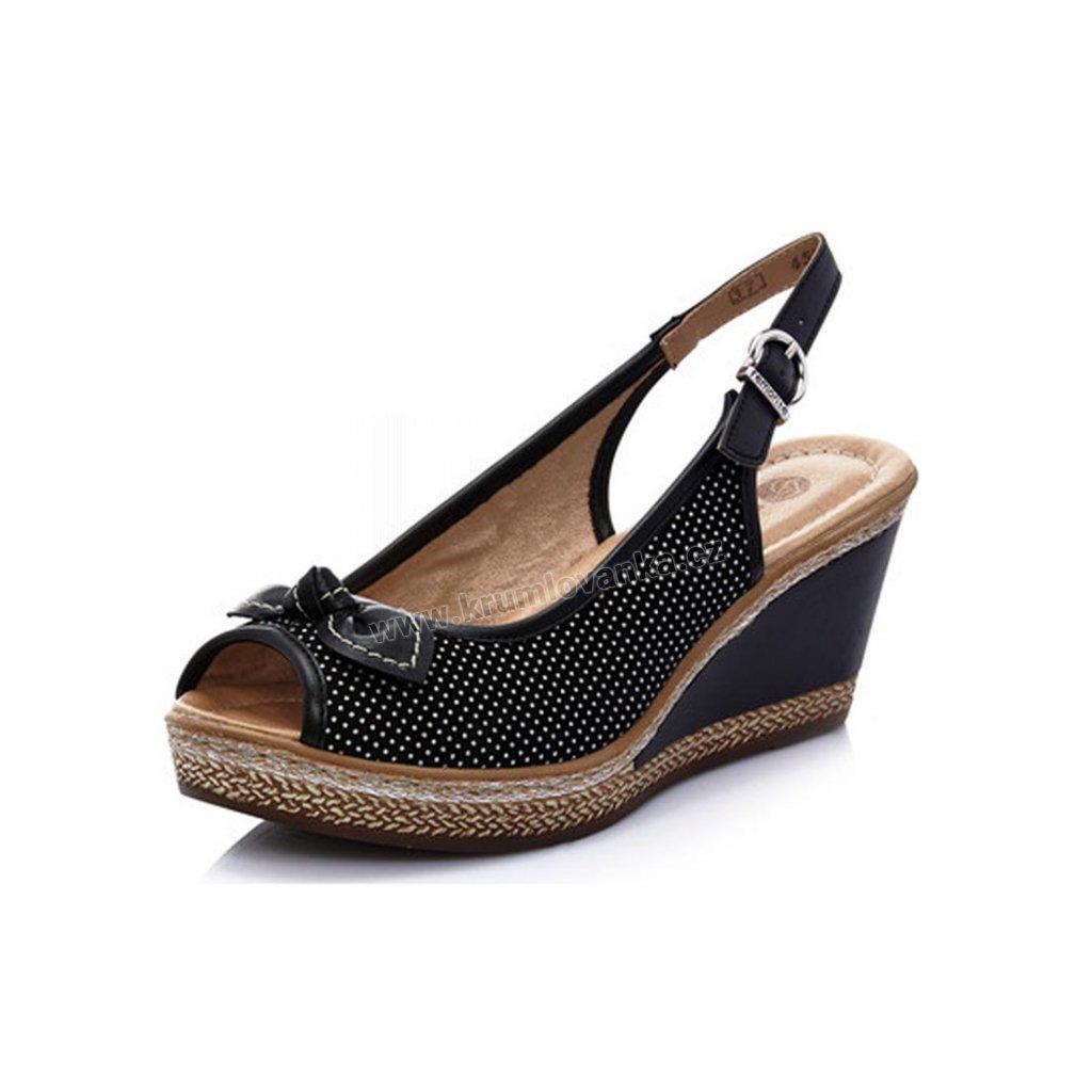 Dámská sandály RIEKER d4528-02 černá