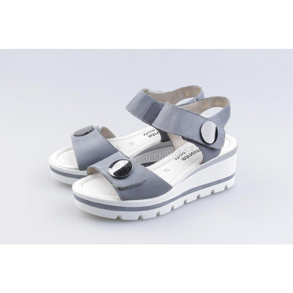 Dámské sandály REMONTE - RIEKER D1565/10 šedomodrá