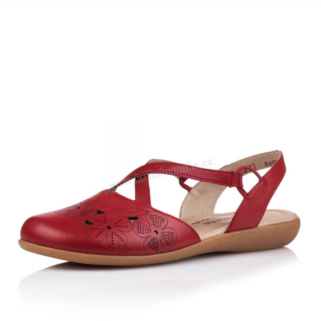 Dámské sandály REMONTE r3802-33 červená