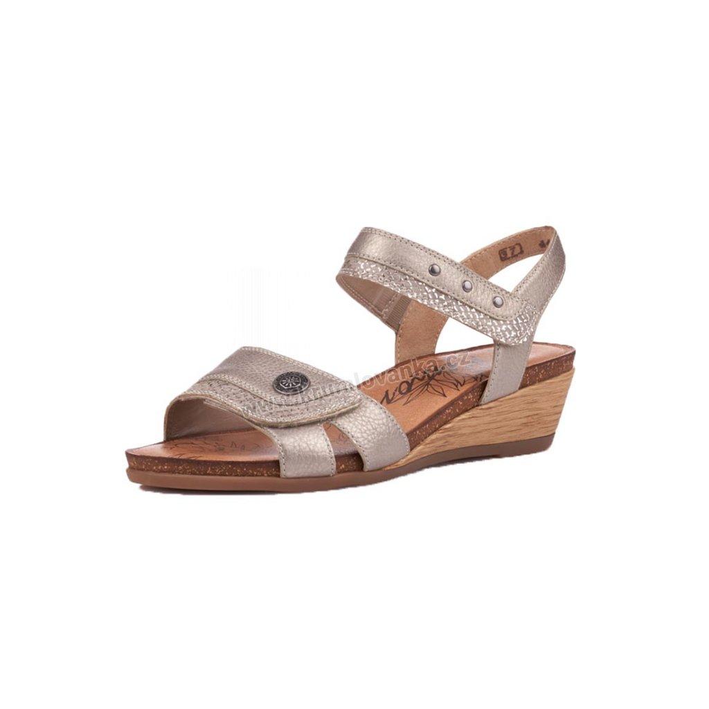 Dámské sandále REMONTE r4450-90 bronzová