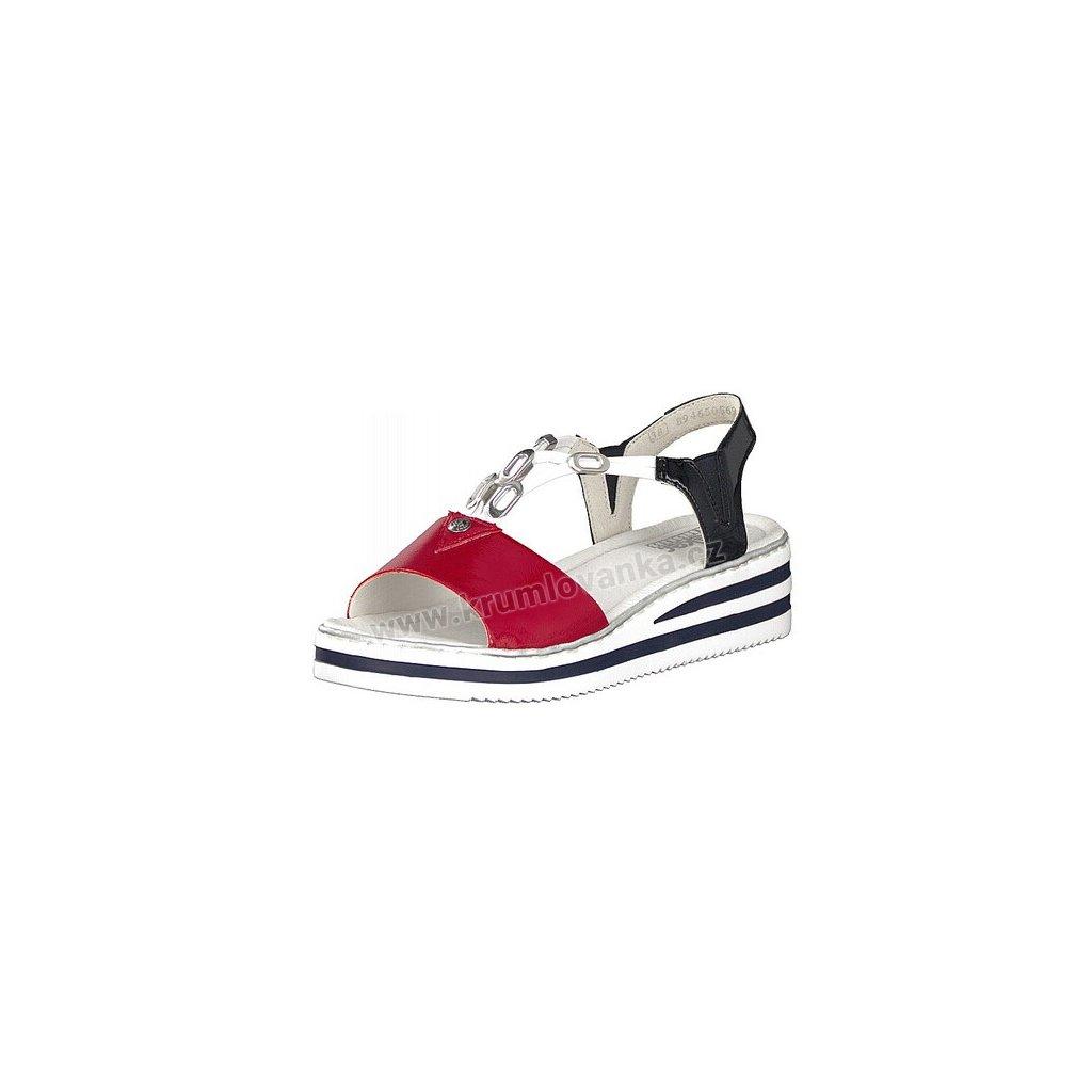 Dámské sandály RIEKER V02Y6-33 modré/červené
