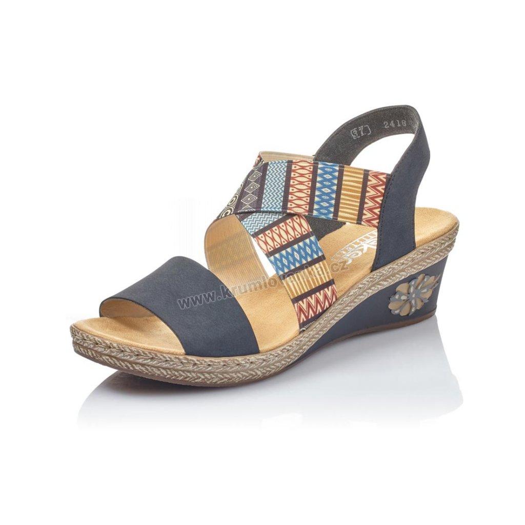 Dámské sandály RIEKER v2418-14 modré