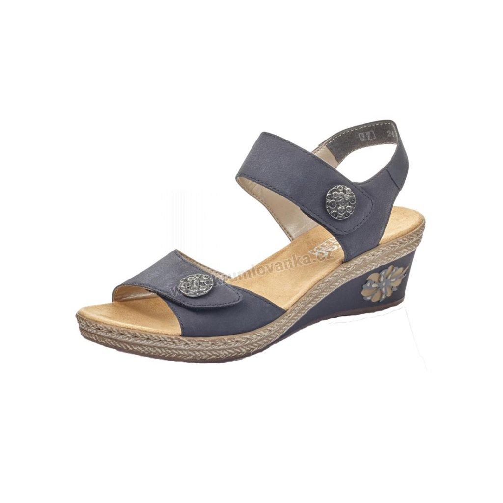 Dámské sandály RIEKER v24b9-14 tmavě modré