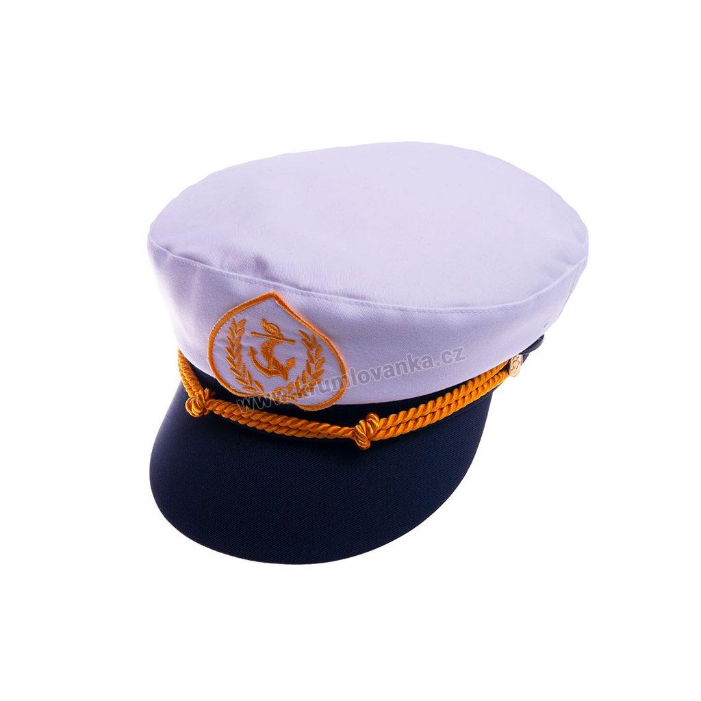Námořnická čepice - kapitánka TONAK 070/10 bílá C006001/2