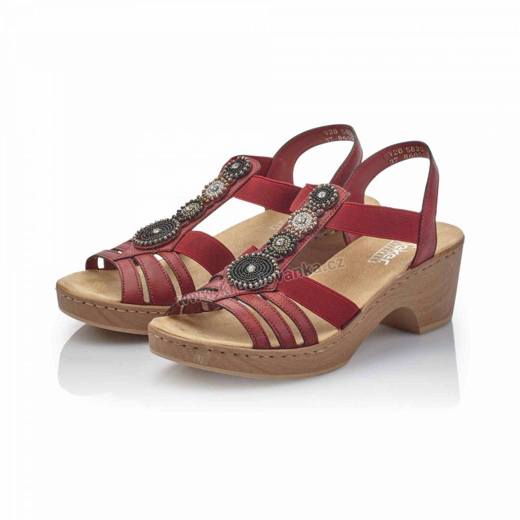Dámské sandále RIEKER v28s8-35 červená