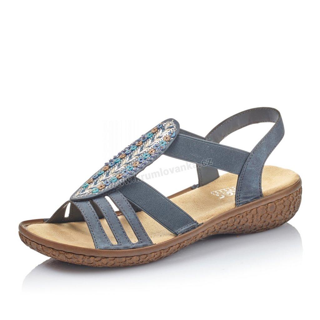 Dámské sandály RIEKER V69G7-14 modrá