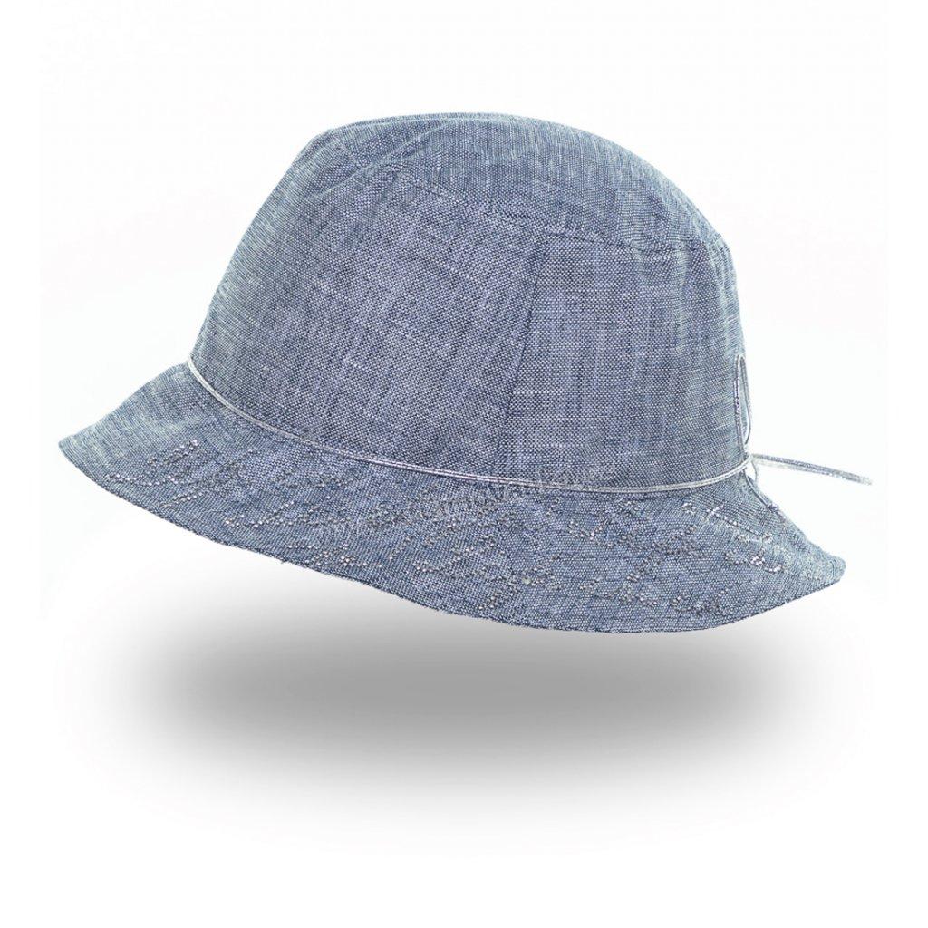 Dámský letní klobouk Krumlovanka 437063 světle modrý