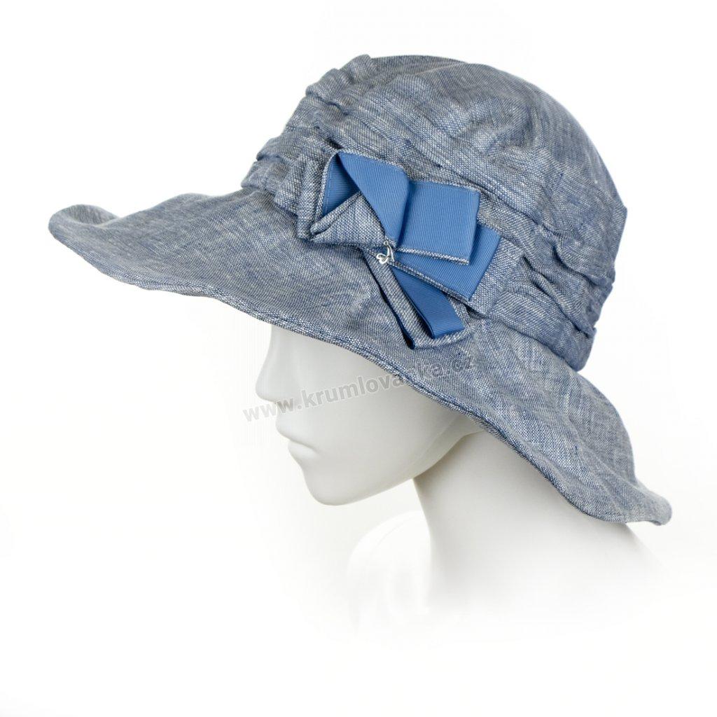 Dámský letní klobouk Krumlovanka 431235 světle modrý