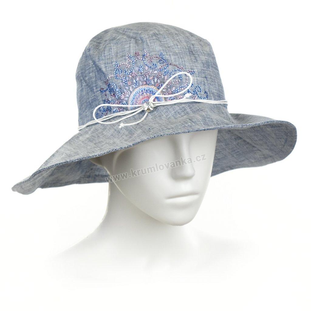 Dámský letní klobouk Krumlovanka 431278 světle modrý