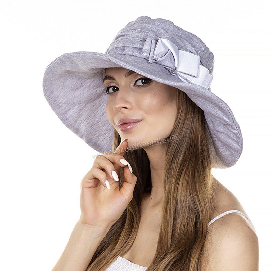 Dámský letní klobouk Krumlovanka 405316 šedomodrý